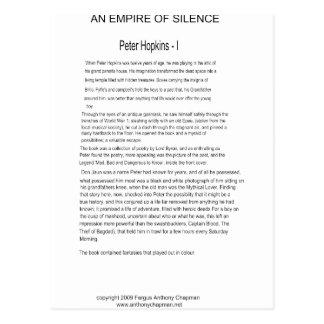 Un imperio de la página una del silencio postales