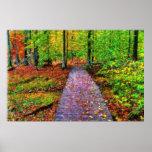 Un impresionista del paseo del otoño posters