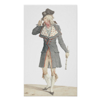 Un Incroyable by Carle Vernet - From Antique Print