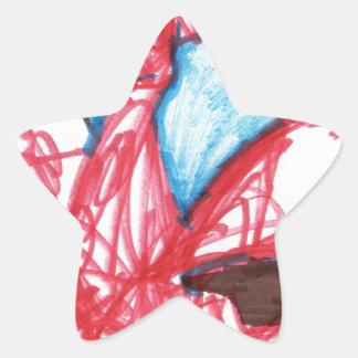 Un indefinido expresado dragón pegatina en forma de estrella