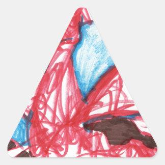 Un indefinido expresado dragón pegatina triangular
