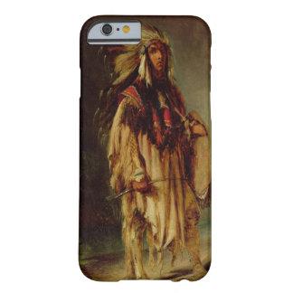 Un indio norteamericano en un paisaje extenso, funda de iPhone 6 barely there