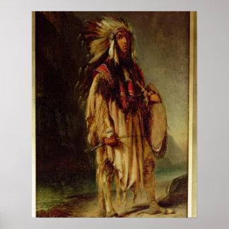 Un indio norteamericano en un paisaje extenso, posters