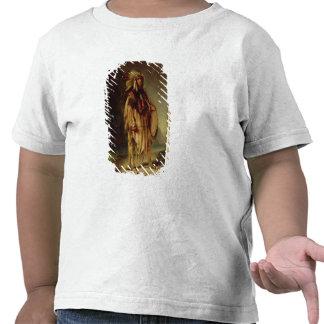 Un indio norteamericano en un paisaje extenso, camiseta