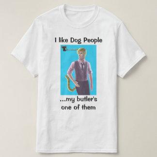 Un individuo del perro del mayordomo - camiseta playeras