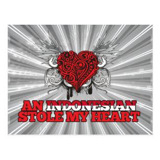 Un indonesio robó mi corazón tarjetas postales