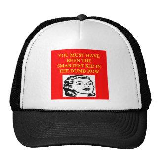 un insulto estúpido gorras