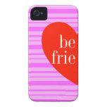 un iPhone 4 mejores amigos rosados de la raya que  Case-Mate iPhone 4 Cárcasa