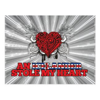 Un islandés robó mi corazón tarjeta postal