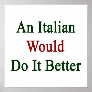 Un italiano lo haría mejor póster