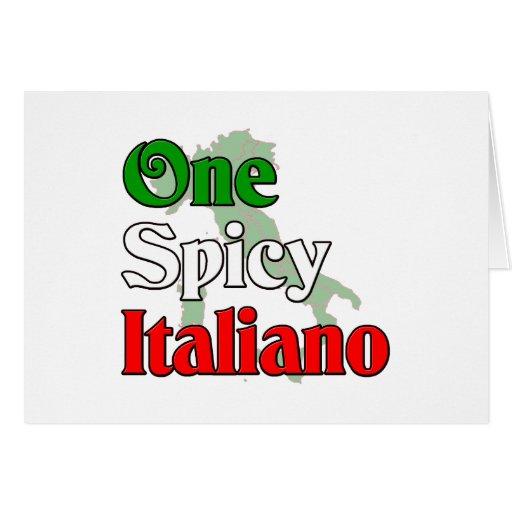 Un Italiano picante Tarjeta De Felicitación