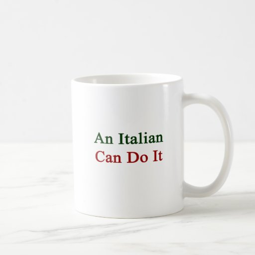 Un italiano puede hacerlo tazas