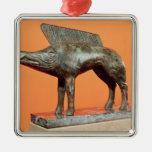 Un jabalí, del Neuvy-en-Sullias Adorno Cuadrado Plateado