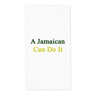 Un jamaicano puede hacerlo etiqueta de envío