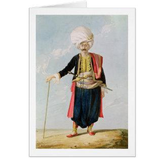 Un Janissary, c.1823 Tarjeta De Felicitación