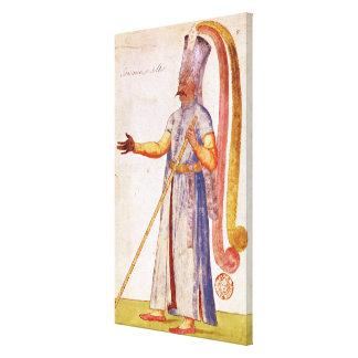 Un Janissary o un soldado, 1567 Lona Estirada Galerias