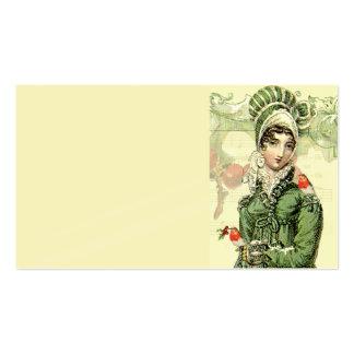 Un Jaoyous Noel, Jane Austen inspiró la tarjeta de Tarjetas De Visita