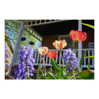 Un jardín de la primavera póster