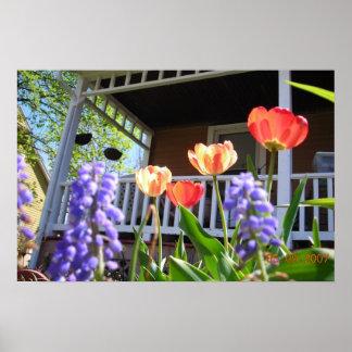 Un jardín de la primavera posters