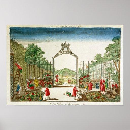 Un jardín de mercado a la una de las puertas de Pa Póster