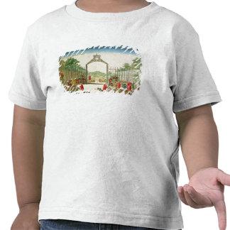 Un jardín de mercado a la una de las puertas de camiseta