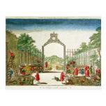 Un jardín de mercado a la una de las puertas de tarjetas postales