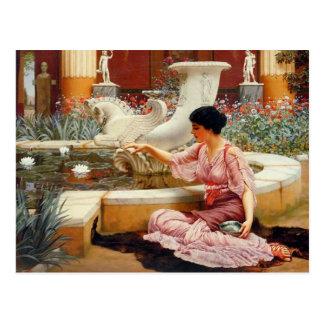 Un jardín de Pompeian - Godward Tarjetas Postales