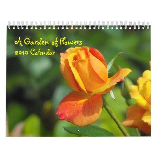 Un jardín del calendario de las flores 2010