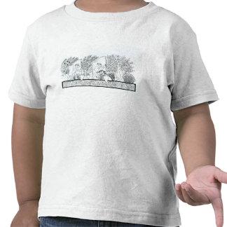 Un jardín egipcio antiguo (grabado) (foto de b/w) camisetas