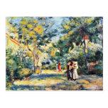 Un jardín en Montmartre de Pierre-Auguste Renoir Postal