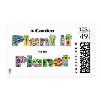 Un jardín, lo planta para el planeta, lema envio