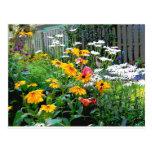Un jardín pintado postal