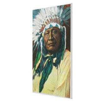 Un jefe indio PortraitColorado del Arapahoe Impresión En Lona