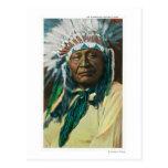 Un jefe indio PortraitColorado del Arapahoe Tarjeta Postal