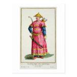 Un jefe militar del mandarín de 'DES Estampes, Postales