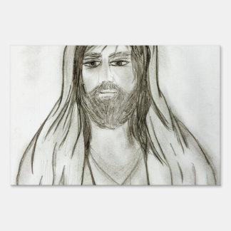 Un Jesús con túnica Letreros