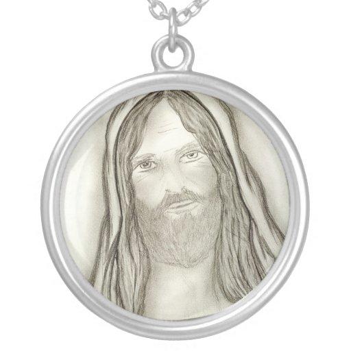 Un Jesús solemne Colgante Redondo