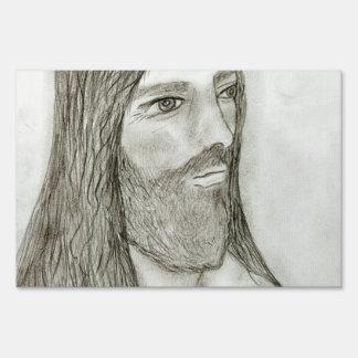 Un Jesús solemne Letrero