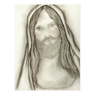 Un Jesús solemne Postal