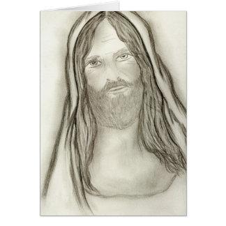 Un Jesús solemne Tarjeta De Felicitación