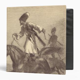 """Un jinete del Cossack Carpeta 1 1/2"""""""