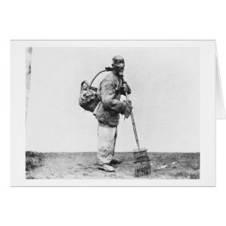 Un jornalero chino, c.1870 (foto de b/w) tarjetón