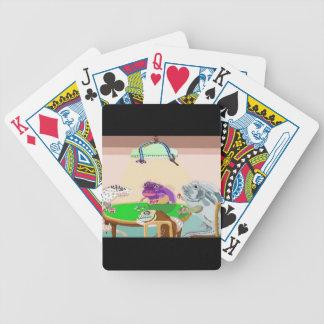 Un juego amistoso de la veintiuna baraja cartas de poker