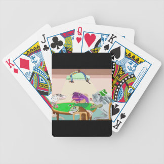 Un juego amistoso de la veintiuna barajas de cartas