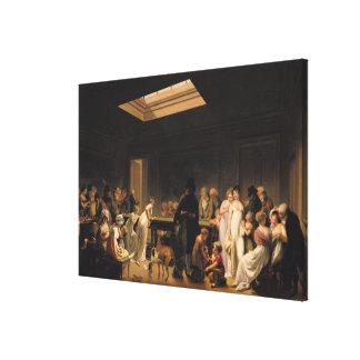Un juego de billares, 1807 lona estirada galerias