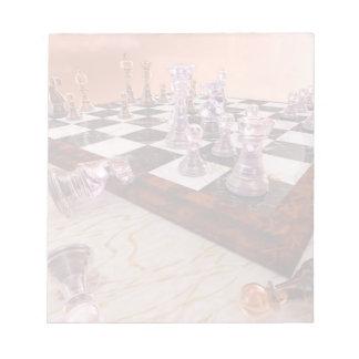Un juego del ajedrez bloc de notas