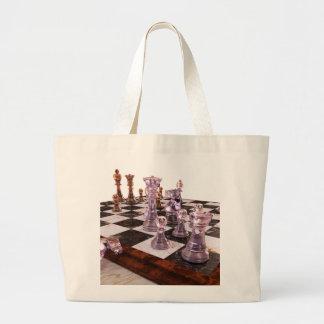Un juego del ajedrez bolsa tela grande