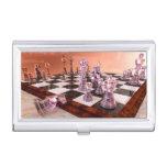 Un juego del ajedrez caja de tarjetas de visita