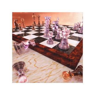 Un juego del ajedrez impresión en tela