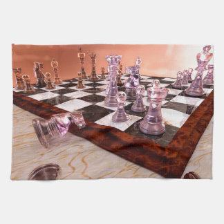 Un juego del ajedrez toallas de mano